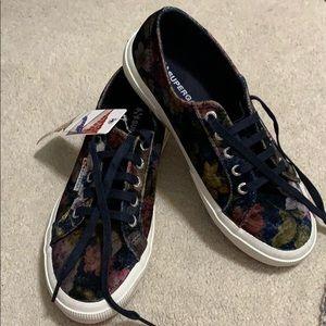 Superga Velvet Floral Sneaker